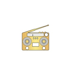boombox computer symbol vector image