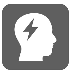 Brainstorming flat squared icon vector