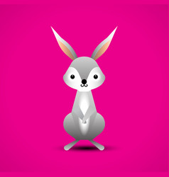 cartoon adorable rabbit vector image vector image