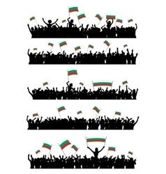 Cheering or protesting crowd bulgaria vector