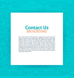 Contact us paper template vector