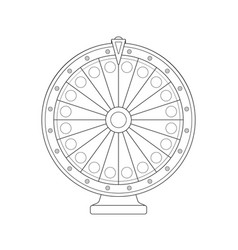 fortune wheel vector image vector image
