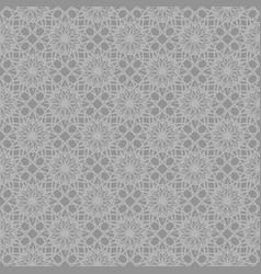Gray abstract ornamental repeating pattern vector