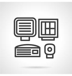 Medical equipment black line icon vector
