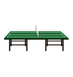 ping pong table isolated icon vector image