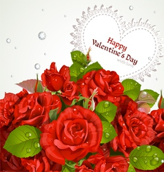 Red roses bouquet vector image vector image