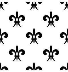 Repeat seamless pattern of fleur de lys vector