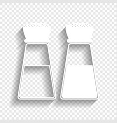 Salt and pepper sign white icon with soft vector