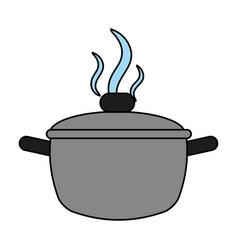 saucepan flat vector image