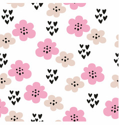 seamless pattern with stylized flowers decorative vector image vector image