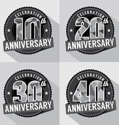 Set of Anniversary Celebration Design vector image