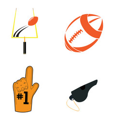 Set of football related objects vector