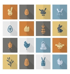 Set of the Easter Icons vector image vector image