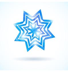 Shining watercolor snowflake vector image vector image
