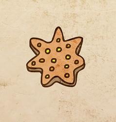 Star Cookie Cartoon vector image