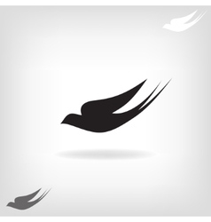 Stylized silhouette swallow vector image vector image