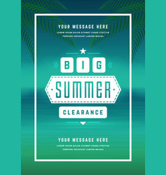 summer sale banner online shopping on beach vector image vector image