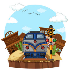 train ride to the west vector image vector image