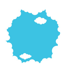 White clouds on a blue background vector