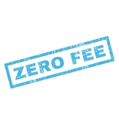 Zero fee rubber stamp vector