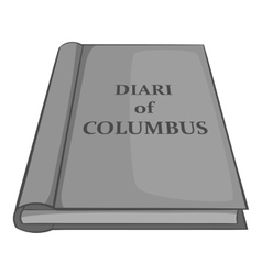 Diary of columbus icon black monochrome style vector
