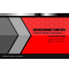 Red color backgrounds template vector