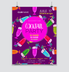 Cocktail party poster vector