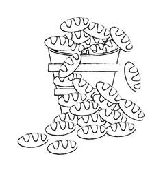 Bread bucket religion catholic symbol sketch vector
