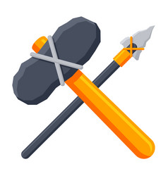 stone tools icon vector image