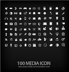 Set of office icon ofoffice mediamobile vector