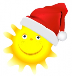 cartoon Christmas sun vector image