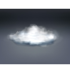 Realistic grey thundercloud vector