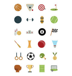 Sports and games colored icons 1 vector