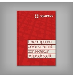 Red business design with headline and pattern vector