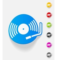 Realistic design element turntable vector