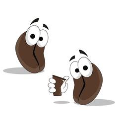 coffee character cartoon vector image