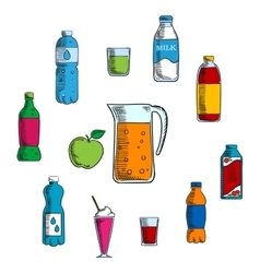 Non alcoholic beverage and drinks vector