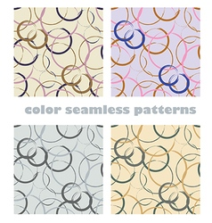 Abstract rounds seamless patterns vector