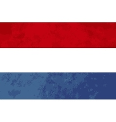 True proportions netherlands flag with texture vector