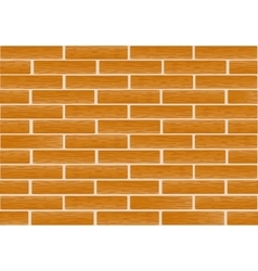 A fragment of a wall made of brown bricks vector