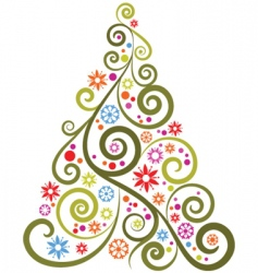Abstract christmas tree vector