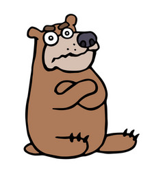 angry cartoon bear vector image