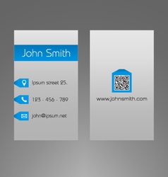 Business card template - modern light grey design vector