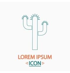 Cactus computer symbol vector