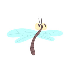 cute cartoon funny dragonfly character vector image