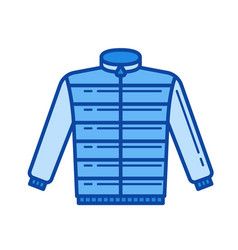 down jacket line icon vector image