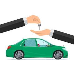 Flat design concept of rent a car Business cartoon vector image