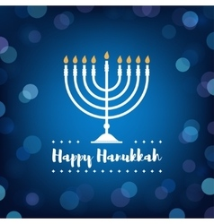 Hanukkah Candles on Bokeh Background vector image