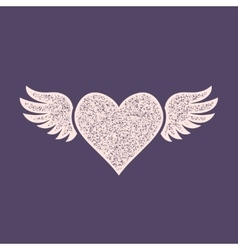 Heart with wings icon vector
