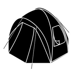 hiking tent icon simple style vector image
